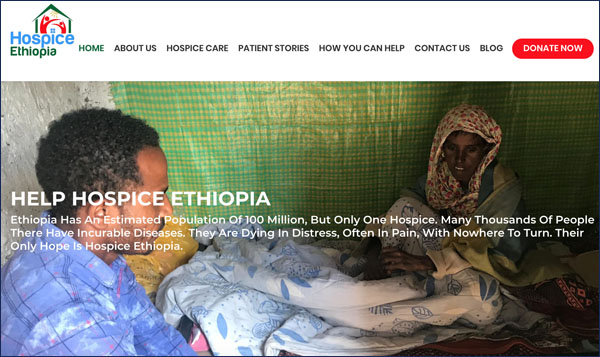Hospice Ethiopia's website gets a new look!